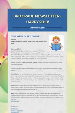 3rd Grade Newsletter-HAPPY 2019!