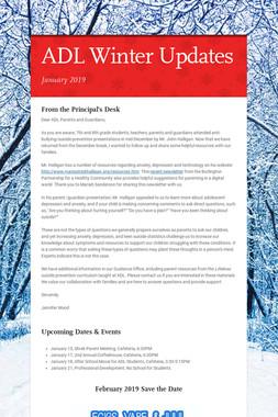 ADL Winter Updates