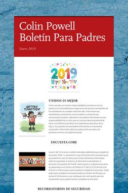 Colin Powell Boletín Para Padres