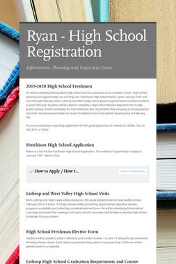 Ryan - High School Registration