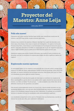 Proyector del Maestro: Anne Leija
