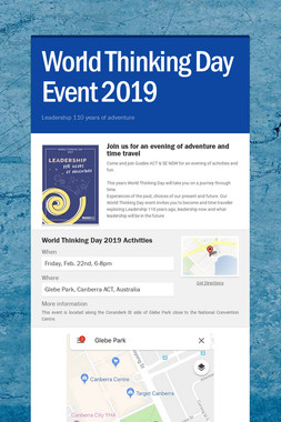 World Thinking Day Event 2019