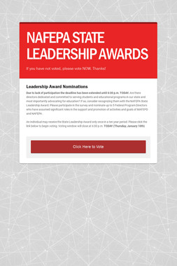 NAFEPA STATE LEADERSHIP AWARDS