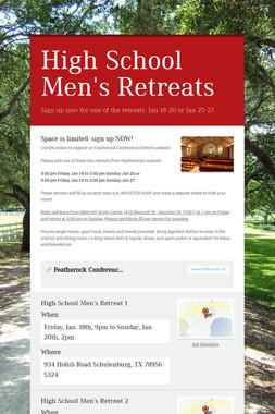 High School Men's Retreats