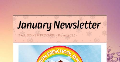 January Newsletter | Smore Newsletters