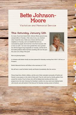Bette Johnson-Moore