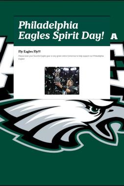Philadelphia Eagles Spirit Day!