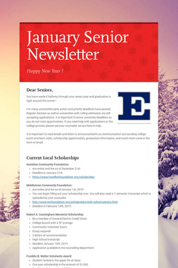 January Senior Newsletter