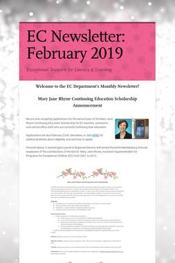 EC Newsletter: February 2019