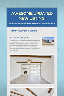 Awesome Updated New Listing!