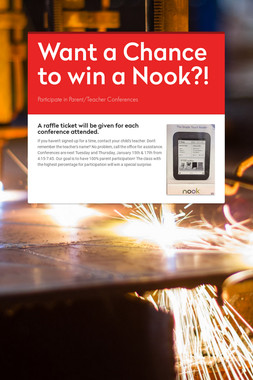 Want a Chance to win a Nook?!