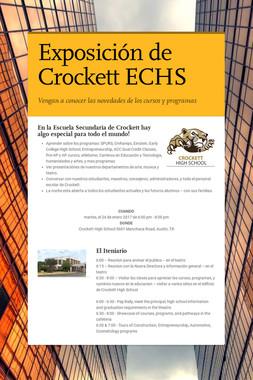 Exposición de Crockett ECHS