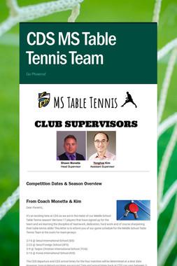 CDS MS Table Tennis Team