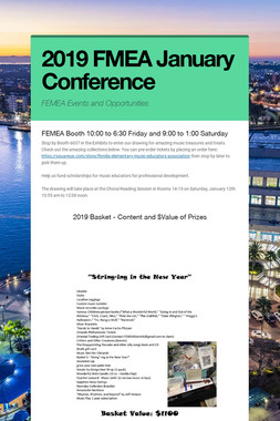 2019 FMEA January Conference