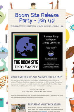 Boom Site Release Party - join us!