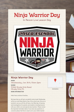 Ninja Warrior Day