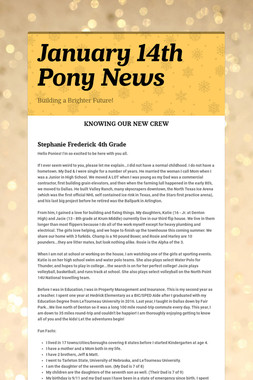January 14th Pony News