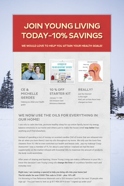 Join Young Living Today-10% Savings