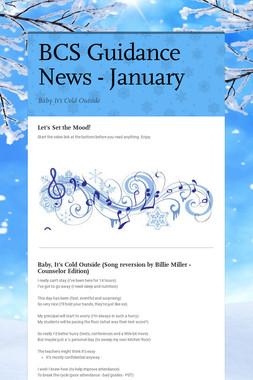 BCS Guidance News - January
