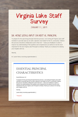 Virginia Lake Staff Survey