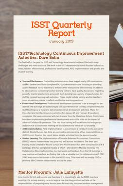 ISST Quarterly Report