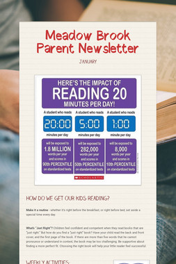 Meadow Brook Parent Newsletter