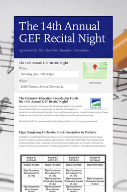 The 14th Annual GEF Recital Night