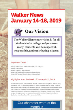 Walker News January 14-18, 2019