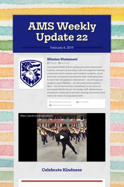 AMS Weekly Update 22