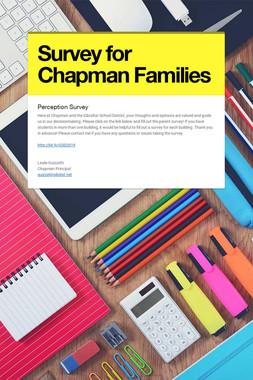 Survey for Chapman Families