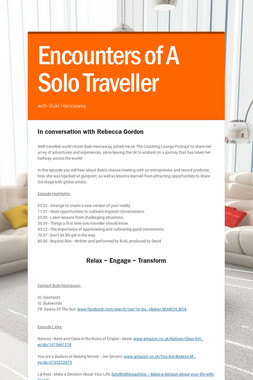 Encounters of A Solo Traveller