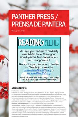 PANTHER PRESS / PRENSA DE PANTERA