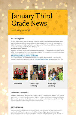 January Third Grade News
