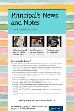 Principal's News and Notes