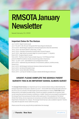 RMSOTA January Newsletter