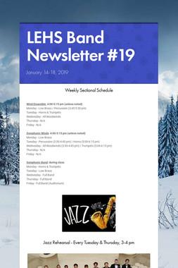 LEHS Band Newsletter #19