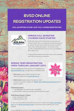 BVSD Online Registration Updates