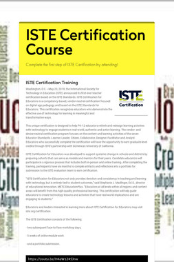 ISTE Certification Course