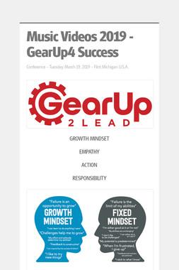 Videos 2019 - GearUp4 Success