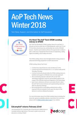 AoP Tech News Winter 2018