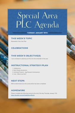 Special Area PLC Agenda