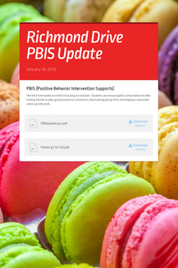 Richmond Drive PBIS Update