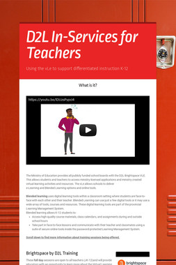 D2L In-Services for Teachers