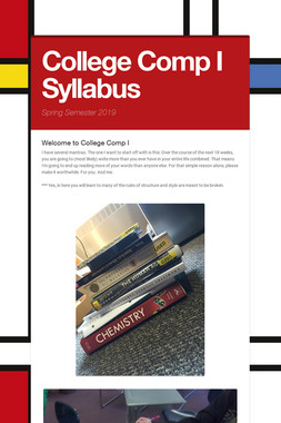 College Comp I Syllabus