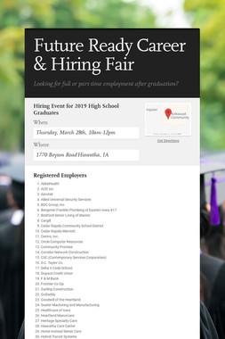 Future Ready Career & Hiring Fair