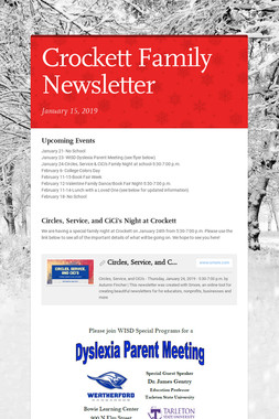 Crockett Family Newsletter