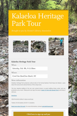 Kalaeloa Heritage Park Tour