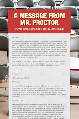 A Message from Mr. Proctor