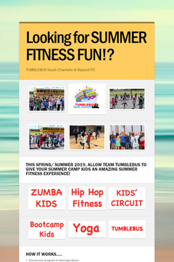 Looking for SUMMER FITNESS FUN!?