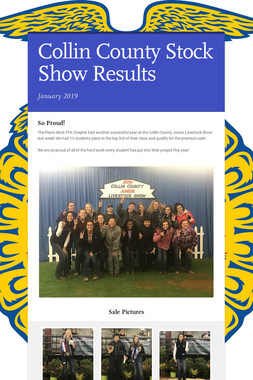 Collin County Stock Show Results
